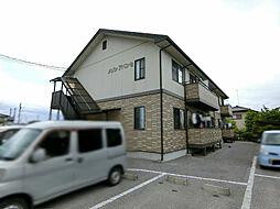 栃木県宇都宮市中岡本町の賃貸アパートの外観