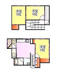 [テラスハウス] 茨城県牛久市神谷1丁目 の賃貸【/】の間取り