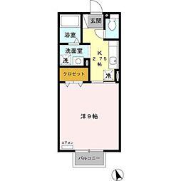 愛知県豊田市中根町永池丁目の賃貸アパートの間取り