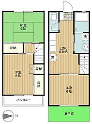 [テラスハウス] 神奈川県藤沢市長後 の賃貸【/】の間取り