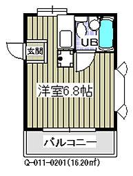 千葉県市川市香取2丁目の賃貸アパートの間取り