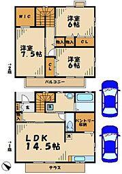 [テラスハウス] 神奈川県川崎市麻生区白鳥4丁目 の賃貸【/】の間取り