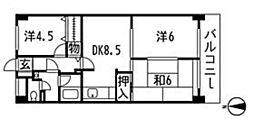 シャトー瀬戸原[2階]の間取り