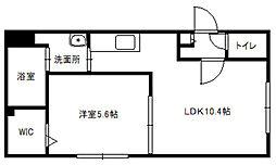 北海道札幌市豊平区平岸四条7丁目の賃貸アパートの間取り