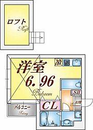 エビラ須磨[2階]の間取り