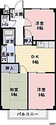 長野県飯田市松尾城の賃貸アパートの間取り