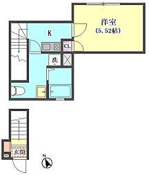仮)大田区東矢口3丁目1410新築アパート[202号室]の間取り
