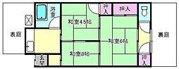 [テラスハウス] 大阪府枚方市出口3丁目 の賃貸【大阪府 / 枚方市】の間取り