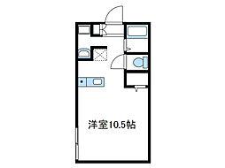 神奈川県厚木市元町の賃貸アパートの間取り