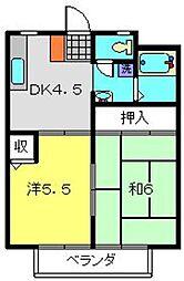 ドエル・アルス神大寺2[302号室]の間取り