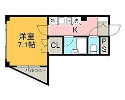 カーサポラリス[3階]の間取り