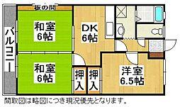 牛房コーポA棟[2階]の間取り