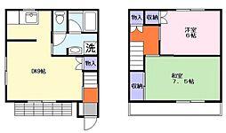 [テラスハウス] 千葉県船橋市高野台1丁目 の賃貸【千葉県 / 船橋市】の間取り