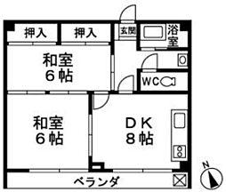 東福岡ビル[402号室]の間取り