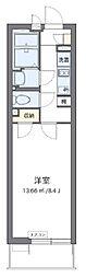 西武新宿線 新所沢駅 徒歩9分の賃貸マンション 1階1Kの間取り