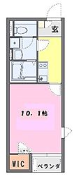JR高崎線 上尾駅 徒歩27分の賃貸アパート 1階1Kの間取り