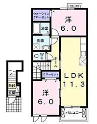 ルミナスV[2階]の間取り