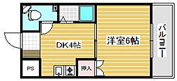 オリエンタル加美3階Fの間取り画像