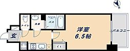阪神なんば線 九条駅 徒歩6分の賃貸アパート 5階1Kの間取り