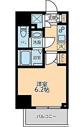京急本線 大森海岸駅 徒歩8分の賃貸マンション 2階1Kの間取り