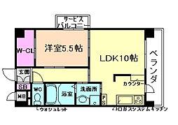 メロッソ福島[601号室]の間取り