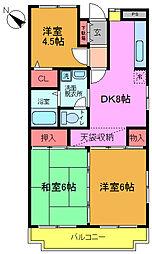 シャトレ田中[1階]の間取り