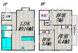 [一戸建] 東京都世田谷区北烏山3丁目 の賃貸【/】の間取り