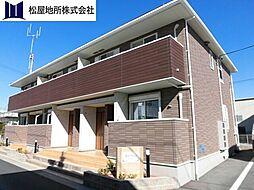 愛知県豊橋市下地町字野箱の賃貸アパートの外観