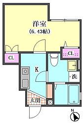 仮)大田区東矢口3丁目1410新築アパート[101号室]の間取り