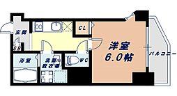Osaka Metro千日前線 阿波座駅 徒歩7分の賃貸マンション 10階1Kの間取り