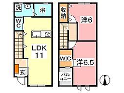 Akahai House[105号室]の間取り