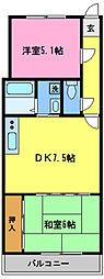 埼玉県さいたま市大宮区三橋3丁目の賃貸マンションの間取り