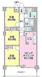 神奈川県横浜市都筑区荏田南4丁目の賃貸マンションの間取り