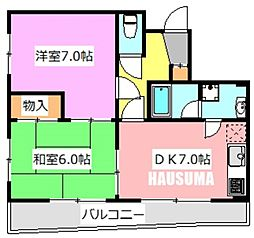 シャトー乙川[301号室]の間取り