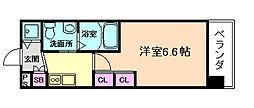 エステムプラザ梅田・中崎町IIIツインマークスNR[6階]の間取り