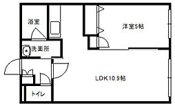 HalleyView東札幌(ハレービュー)[403号室]の間取り