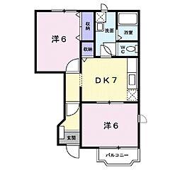 アンシャンテA[1階]の間取り
