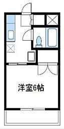 神奈川県厚木市妻田東1丁目の賃貸マンションの間取り