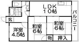 家具町ハイツ[8階]の間取り