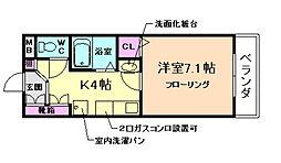コートイズミ[2階]の間取り