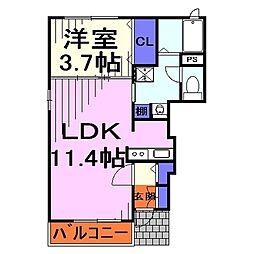 埼玉県川口市元郷3丁目の賃貸アパートの間取り