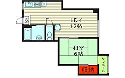 福岡マンション[3階]の間取り