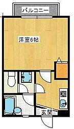 キャッスルナカイ[2階]の間取り