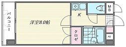 キャンパスシティ箱崎[540号室]の間取り