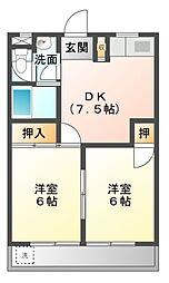 愛知県豊橋市東新町の賃貸マンションの間取り