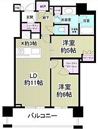 Brillia The Tower 東京八重洲アベニュー[16階]の間取り