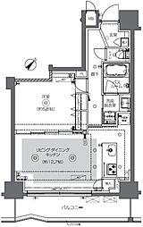 ズーム日本橋馬喰町 2階1LDKの間取り