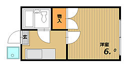 ワンルームKOYO[1階]の間取り