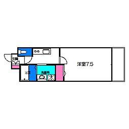 Osaka Metro谷町線 千林大宮駅 徒歩2分の賃貸マンション 10階1Kの間取り
