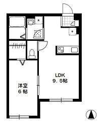 東京都江戸川区中央3丁目の賃貸アパートの間取り